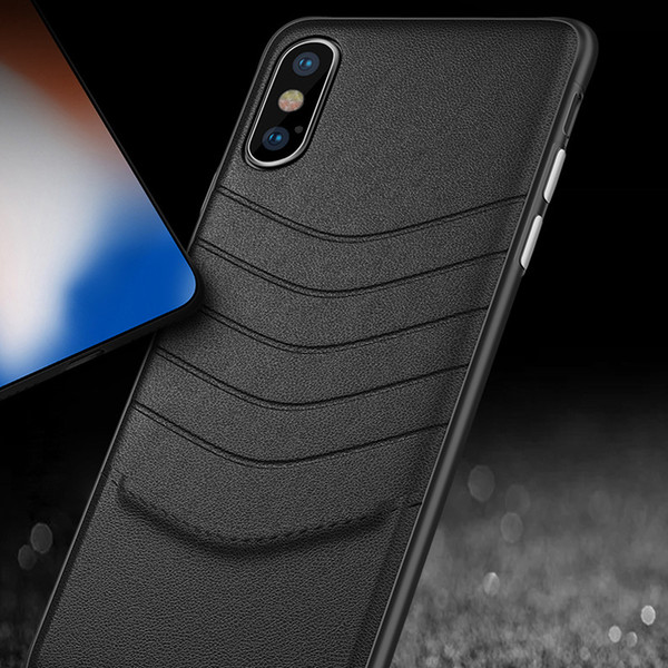 New For iPhone X/8/7/6s case Luxury Leather High Quality Thin Scratch Resistant Dual Coating Light Superior Coating PC Cover