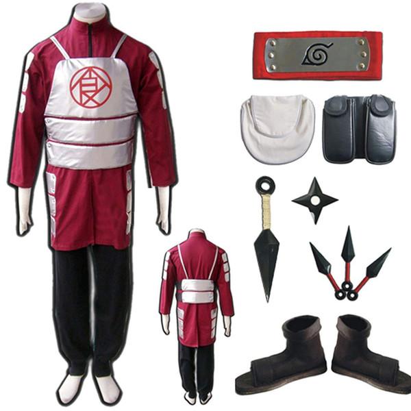 Naruto Akimichi Choji Tam Cosplay Kostüm