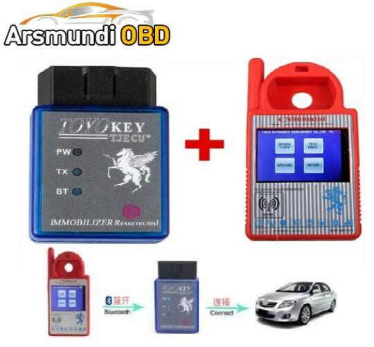 New Bluetooth Mini CN900 Transponder Key Programmer Plus TOYO Key OBD II Key Pro for 4C 46 4D 48 G H Chips Funtion For All Lost