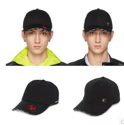 VETEMENTS 18FW Big Daddy POLIZEI SECURITE Embroidery Dad Cap Base cap Sup Gosha Rubchinskiy Palace Hip Hop skateboard Knitted Hats