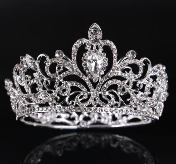Свадебный корона, золото, серебро, весь круг, Алмаз корона орнамент, детская корон