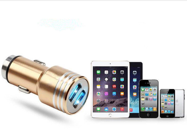 Safety Hammer Auto Car Charger Dual 3.1A USB Output Fast Charge Adapter Ipad Digital Camera Cell Phone Chargers