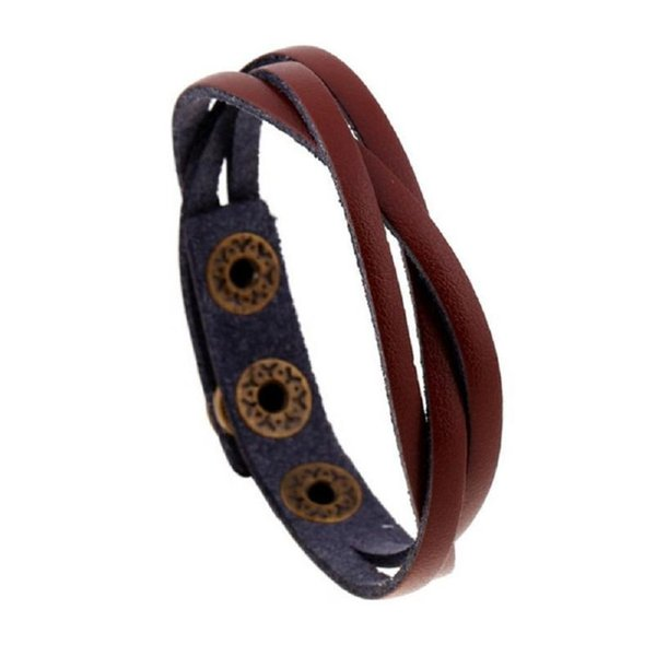 The Very Hot Fashion New Leather Wrap Braided Wristband Brief Style Special Designed Cuff Punk Men Women Bracelet Bangle