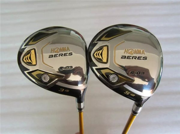 Brand New 3 Star Honma S-03 Fairway Wood Honma Golf Fairway Golf Clubs #3/#5 Graphite Shaft With Head Cover