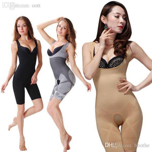 Wholesale-AQ1110 Bodysuit Women Charcoal Sculpting Underwear Magic Bamboo Slimming Suits Shapewear Waist Training Corsets Body Shaper