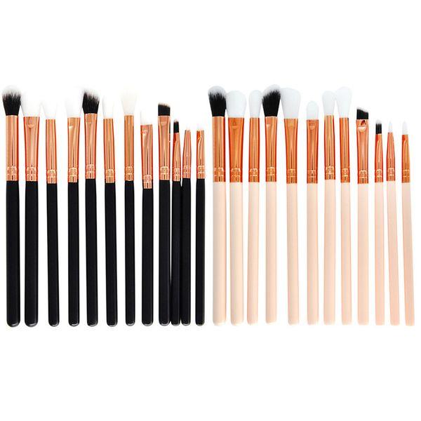 12pcs fard à paupières pinceaux de maquillage Set Pro pinceaux maquillage pinceau à sourcils mélange de maquillage brosses doux synthétique cheveux Q162