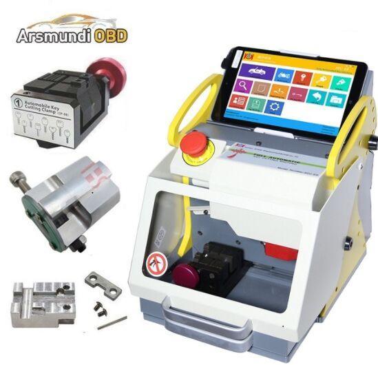 2019 Russia Language Free Tax Offer SEC E9 automatic key cutting machine SEC-E9 portable smart duplicate car key cutting machine