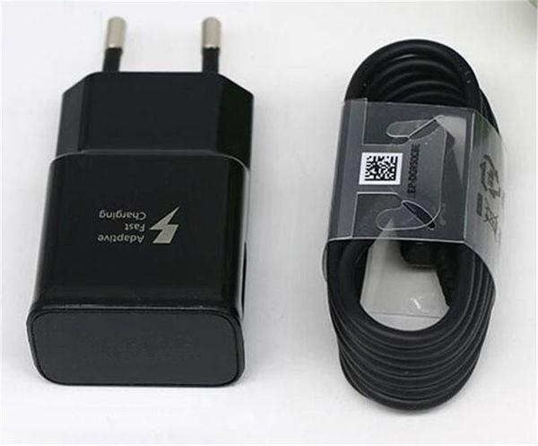 Carregador rápido da UE + cabo tipo 1.2m c