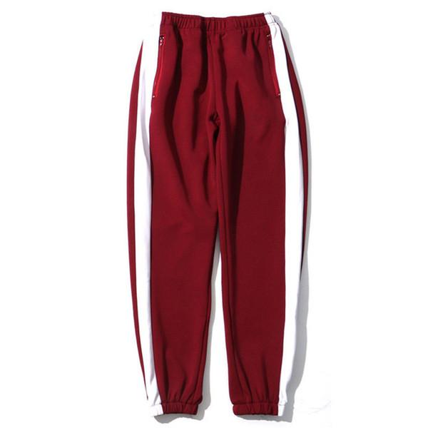 Harajuku Sweatpant Side Striped Pant Jogger Men Casual Sweat Pant Hip Hip Track Trousers Cotton Zipper Pocket 2018 Spring Autumn