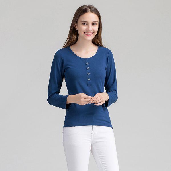Женщины повседневная домашняя одежда весна осень хлопок пижамы с длинным рукавом сна рубашка ночная рубашка с бюстгальтером твердые ночное M-XL