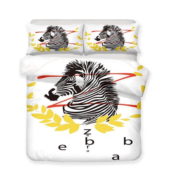 3D Printed Zebra Children/adult Bedding Set, All Sizes