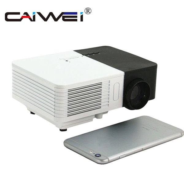 CAIWEI Portable Mini LED Projector 1080p HD 100LM Outdoor Home Cinema Theater Movie TV Cartoon Video Game LCD Beamer for Kids