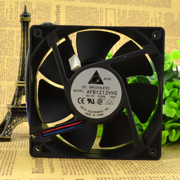 For genuine Delta AFB1212VHE 12038 12V 0.90A 12 cm large air volume double ball fan