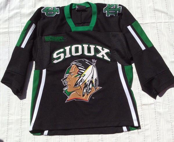 30cb052b331 UND North Dakota Fighting Sioux Black K1 Ice Hockey Jersey Mens Stitched  Custom any number and