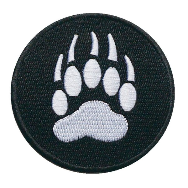 8CM Embroidery Sew Iron On Patch Bear Beast Footprint Embroidered Patches Badges For Bag Jeans Hat T Shirt DIY Appliques Craft Decoration