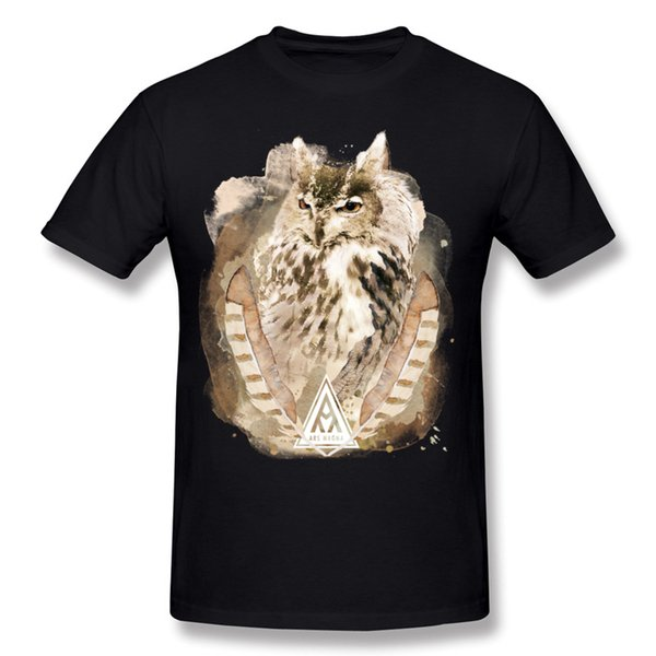 Mix Order Man Cotton Ancient Owl T-Shirts Man Round Neck Green Short Sleeve T-Shirt Plus Size Printed On T-Shirts