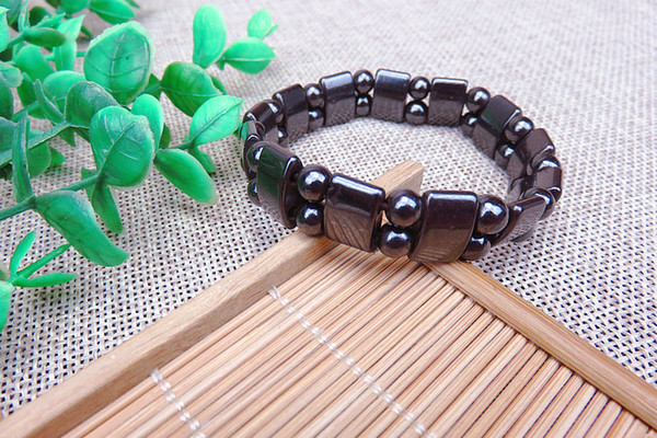 New arrival Magnetic Hematite Fashion Pain Hematite Stone Therapy Health Care Magnet Hematite Beads Bracelet Men's Jewelry