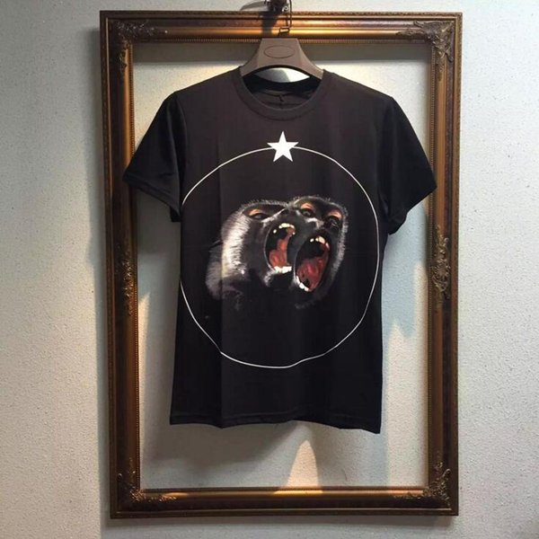 Roar orangutan cotton luxury brand short sleeve t-shirt casual pentagram baboon printed unisex fashion streetwear summer shirt wholesale D20