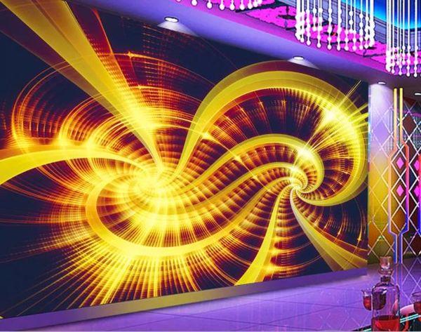 3d настенные росписи пользовательские фото обои нетканые Золотой цветок гостиная диван фон домашнего декора настенные росписи