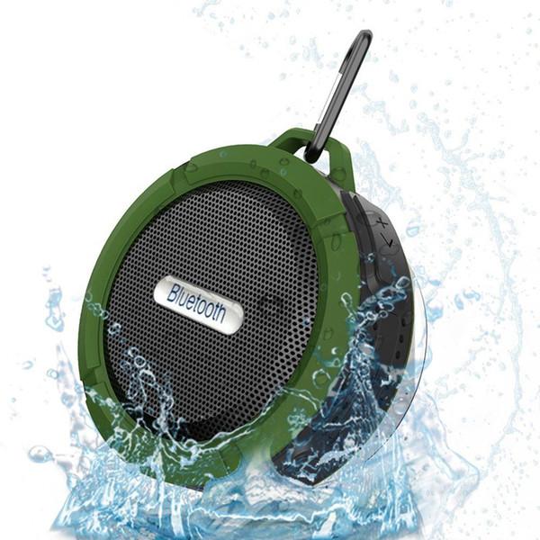 C6 Haut-Parleur Bluetooth Haut-Parleur Sans Fil Potable Audio Player Étanche Haut-Parleur Crochet Et Ventouse Stéréo Lecteur de Musique Avec le paquet MIS183
