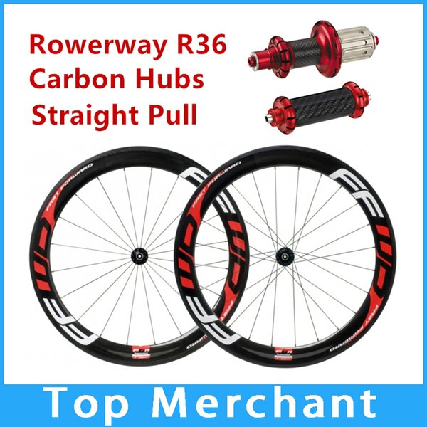 2018 NEW Basalt brake surface!!FFWD wheels F6R 60mm wheelset straight pull Powerway R36 carbon hubs full carbon road bicycle bike wheels