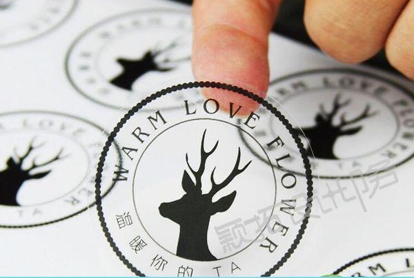 top popular Logo Custom Vinyl paper Decal Plastic label Transparent Waterproof Clear Multi-function Self-adhesive Plastic Label Sticker Size Customized 2021