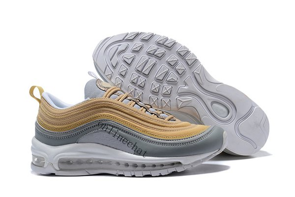 purchase collections online 2018 Men Women 97 Og Undftd Undefeated Triple White Running Shoes OG Metallic Gold Silver Bullet Designer Sneakers 36-46 deals online great deals sale online marketable for sale YpDFUlkbG