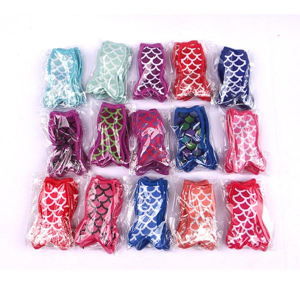 top popular Mermaid printing popsicle holders Ice Popsicle sleeves freezer Pop holders for kids Summer Ice Cream Tools 2019