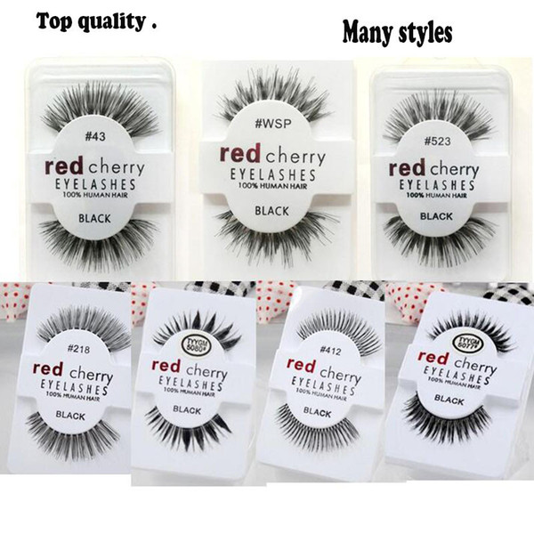 13 styles RED CHERRY False Eyelashes Natural Long Eye Lashes Extension Makeup Professional top grade fibre Eyelash free shipping