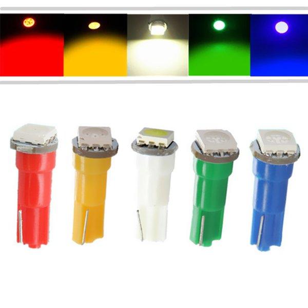12V T5 5050 SMD per interni Lampadine a LED Lampada 74 17 18 37 70 73 Cruscotto Indicatore Cruscotto a cuneo Lampadine del pannello strumenti Luce DC 12V