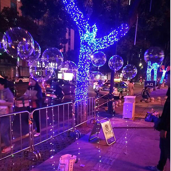 best selling BoBo Ball Balloon Luminous LED Transparent BoBo Balloon 20 inch Colorful Light Balloon For Birthday Wedding Festival Party Decorative 983