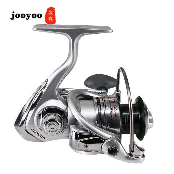 Metal Spool Spinning Spinning Type 3000 4000 5000 Series 5.0:1 Fishing Reel 5+1BB Wheel Gear Ratio Knob Handle Right Left Hand