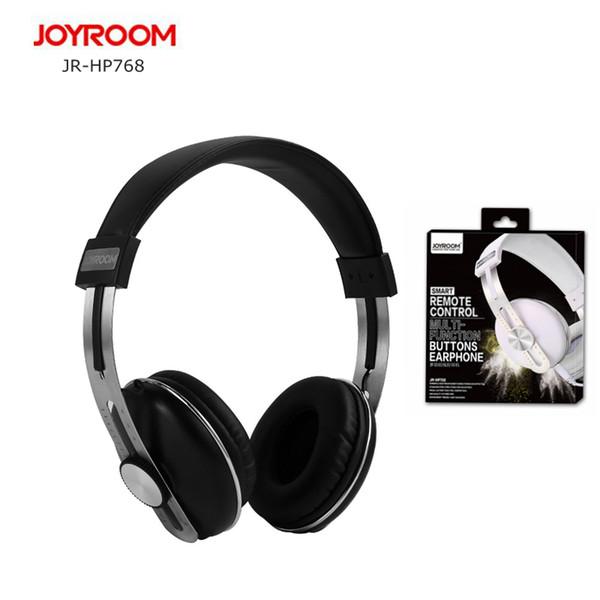JOYROOM HP768 Fone de Ouvido Fone de Ouvido com Microfone e Cabo Destravável 3.5 MM Jack Deep Bass Profissional DJ Monitor de Fone De Ouvido
