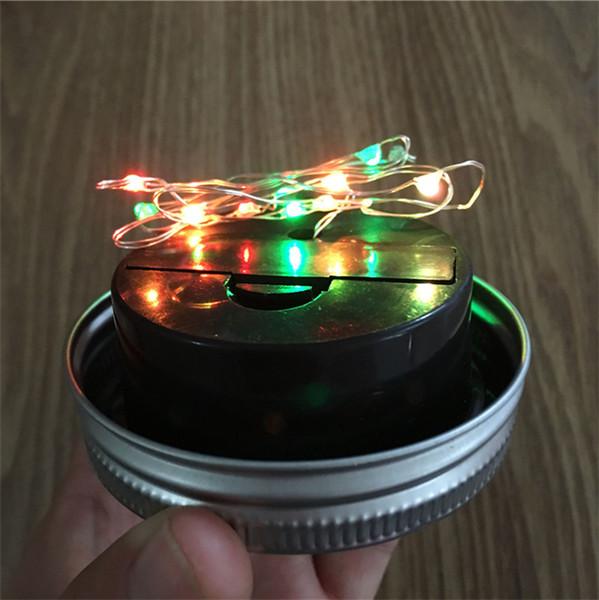 Solar energy can bottle cap light Mason bottle cap solar rotary cover fitting battery box bottle cap lamp string 10