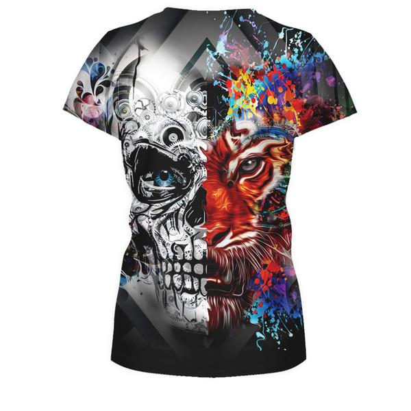 349cabb6 Fashion Fashion Tiger Digital Print Leisure Jacket Men Women T Shirt 3d  Lion Tiger Print Designed Stylish Summer T Shirt Tops Tees T Shirts  Shopping ...