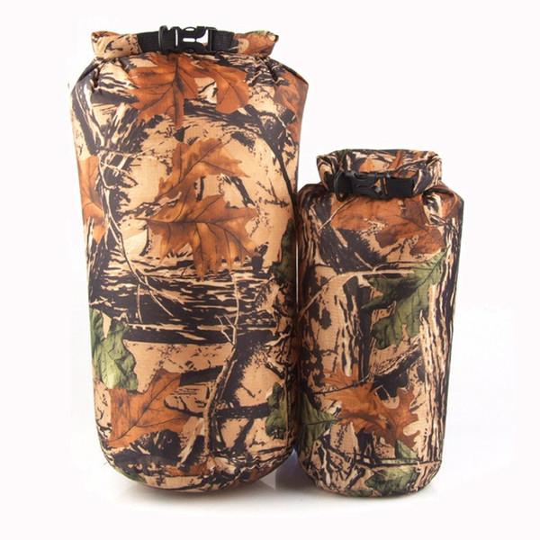 best selling Camouflage camping hiking PU waterbag waterproof bag Outdoor Traveling Ultralight Rafting Bag Camping Dry Bags waterproof box 8L