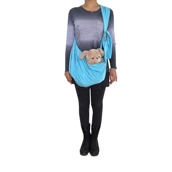 Hands-free Reversible Pet Dog Cat Sling Carrier Bag Travel Tote Puppy Kitty Rabbit Double-sided Pouch Shoulder Carry Tote
