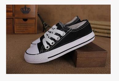 EU taille 24-34 Nouvelle marque enfants chaussures de toile de mode haute - chaussures basses garçons et filles sport chaussures de sport en toile