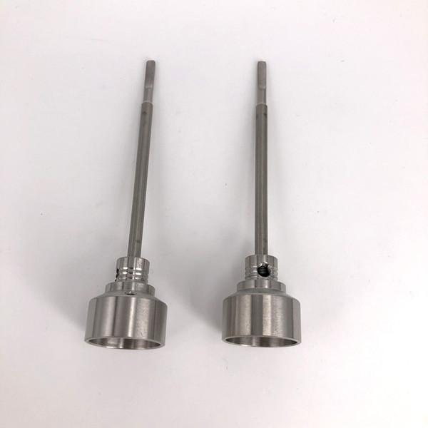 Universal Tabacco 2 IN 1 chiodo titanio 18 / 20mm GR2 titanio chiodo con tappo carb strumento dabber per contenitore cera Slicone Jar