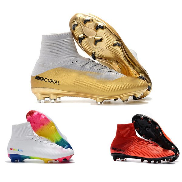 ebc9c2a1b87 Mens CR7 Mercurial x EA SPORTS Superfly V FG Soccer Shoes Magista Obra 2  Boys Soccer