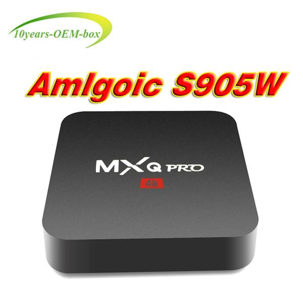 MXQ PRO TV BOX Android 7.1 Quad Core Rockchip RK3229 Internet 4K 1GB 8GB WiFi 4K 3D Google Media Player Amlogic S905W Better S905W X96 Mini