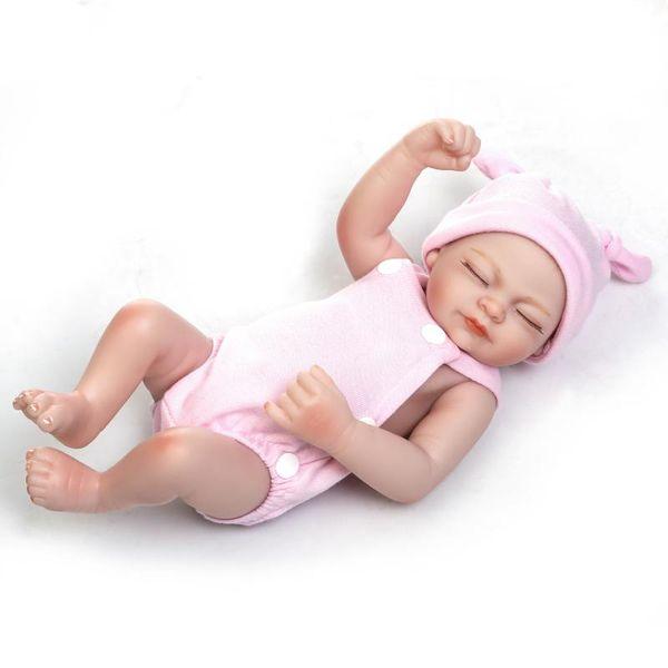 "11"" Realistic Handmade Lifelike Reborn 26cm Baby Dolls Girls Gift Newborn Vinyl Cute"