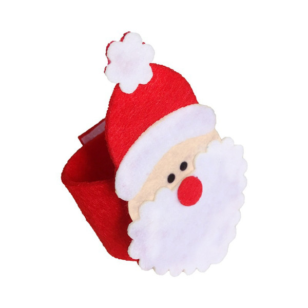 100pcs Christmas Santa Claus Napkin Rings Serviette Holders Party Dinner Table Decor For Home Christmas Tableware Supplies