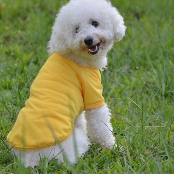 12pcs/lot cotton material Poromeric Pet Dog Shirts Easy washing Pet dog Clothing clothes factory wholesale