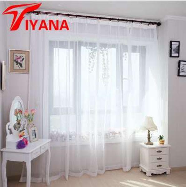 Moderno tinta unita viola tulle tende per soggiorno cucina rosso finestra trattamento tende voile tenda blu Cortinas P184Z30