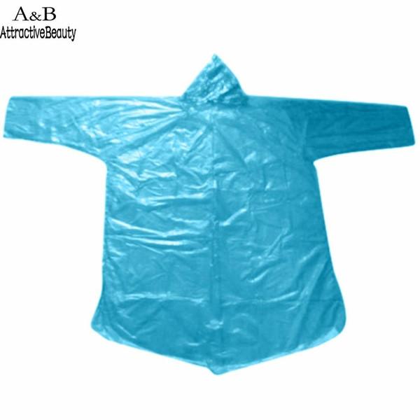 top popular Raincoat Travel 10Pcs Waterproof Unisex Hood Poncho Camping Rain Coat Adult Emergency Must Disposable 2019
