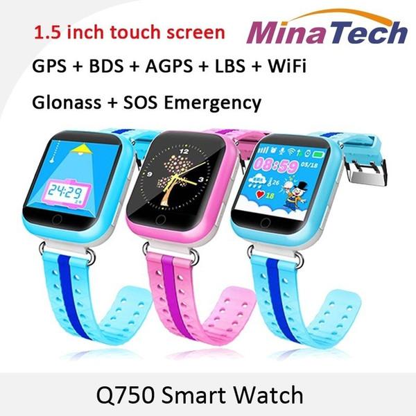 Горячие дети дети смарт-часы сенсорный экран SIM GPS с Wifi SOS вызова расположение устройства трекер смарт-часы E361