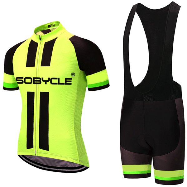 2018 Jerseys fluo yellow sobycle team pro jersey gel pad bike shorts ropa  ciclismo mens summer Tour CYCLING Maillot Culotte clothing set 601c47a3d