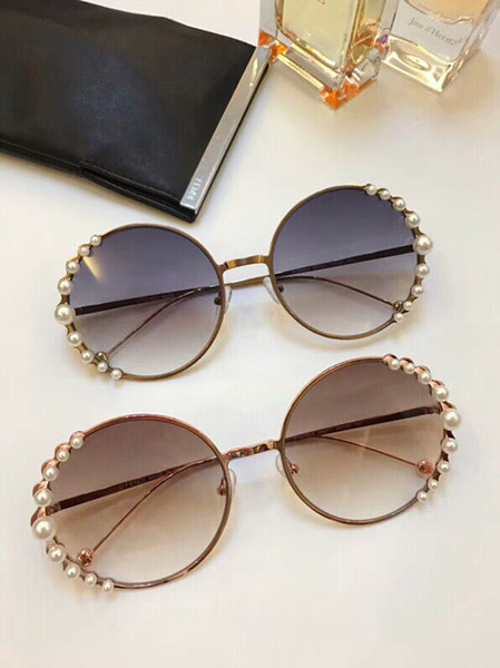 RIBBONS AND PEARLS FF 0295/S Pink/Brown Pink Shaded Sunglasses Designer Sunglasses New with Box