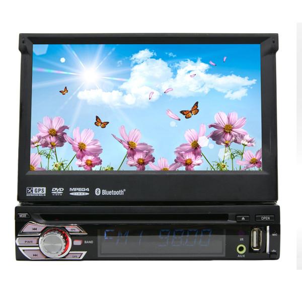 Single Din 7'' Car Stereo Windows in Dash Single Din GPS car DVD Player Stereo Touchscreen USB SD IPOD FM Transmitter Steering Wheel
